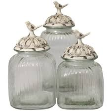 Glass Kitchen Canister Sets Glass Kitchen Canister Sets At Overstock