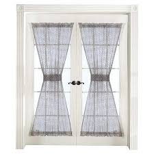 Sheer Door Curtains Sheer French Door Curtain Panels Treatments For Drapes Sliding