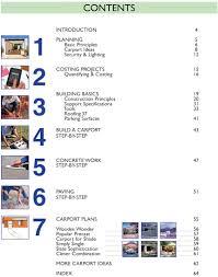 Carport Construction Plans How To Build A Carport The Easy Way E Book How To Books