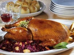 roast goose with cabbage and potato dumplings recipe eat