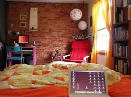Red Brick Walls Interior Design Red Brick Wall For Colorful Teen Room Designs Home Inspirations