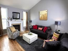 living room retro red black and white family room hgtv