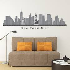 new york city ny skyline wall decal art freedom tower printed zoom