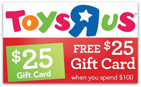 toysrus coupons free 25 gift card with 100 purchase u0026 more