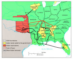 Map Of The Southern United States by Myth 72 The Trail Of Tears Emptied The Southeast United States