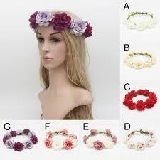festival flower headbands women flower crown hair band wedding flower headband garland