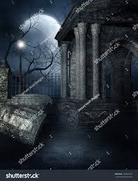 graveyard clipart black and white old crypt gothic graveyard stock illustration 106482320 shutterstock
