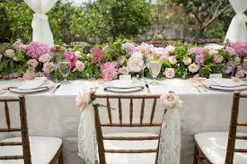romantic vintage inspired outdoor bridal shower with pastel décor