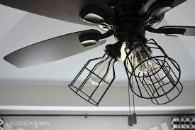 home design crazy wonderful diy cage light ceiling fan intended