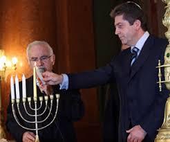 sofia the candle bulgaria president lights hanukkah candle at sofia synagogue