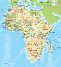 the map of africa large physical map of africa