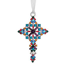 2014 lunt jeweled cross silver ornament silver superstore