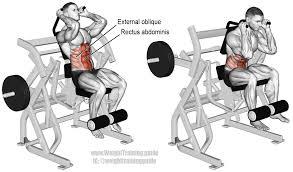machine leg raise crunch instructions and video weight training