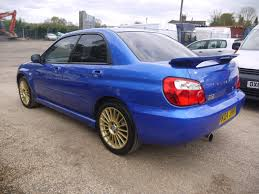 blue subaru gold rims used 2004 subaru impreza 2 0 turbo wrx 5 door in blue with gold