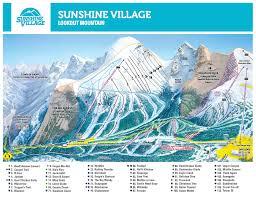 Take Me To Maps Sunshine Village Trail Map Onthesnow