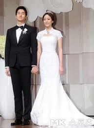 Wedding Dress Drama Korea Real Life Kdrama Couple Yoo Ji Tae And Kim Hyo Jin From