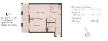 1 bedroom penthouse for sale in azure building stratford london