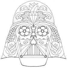Darth Vader Coloring Pages Sugar Skull Coloringstar Darth Vader Coloring Pages