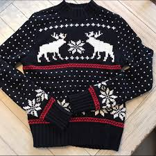 abercrombie fitch fair isle moose sweater from s closet