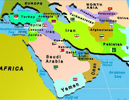 Middle East Physical Map by Middle East Rivers Popular River 2017