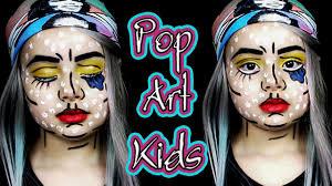 pop art kids make up for halloween 2016 youtube