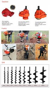 new design one man well drilling manual earth auger with heavy