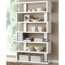 Modern Bookcases Modrest Maze Modern High Gloss Bookcase White Sculptural