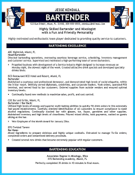 bartendending responsibilities resume sample and bartending resume