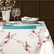 lenox simply chirp bird pattern table linens