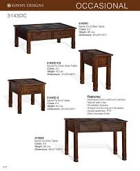 Sofa Table Dimensions Prices U2022 Sunny Designs Santa Fe Occasional Tables U2022 Al U0027s Woodcraft