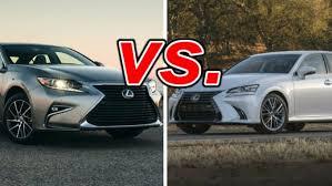 lexus vs lexus es 350 vs lexus gs 350 carsdirect