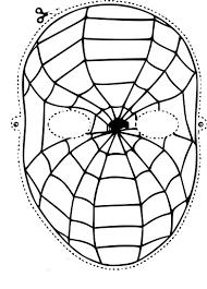 Coloriage masque Spiderman gratuit à imprimer