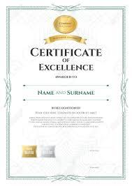 portrait certificate achievement template vector event coordinator