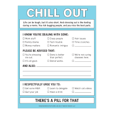 From The Desk Of Notepads Knock Knock Chill Out Nifty Notepad Knockknockstuff Com