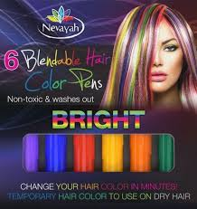 best wash out hair color amazon com nevayah hair chalk temporary hair multicolor dye pens