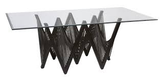 Dining Room Table Bases Rectangular Glass Dining Room Table Base With Black Perforated Leg