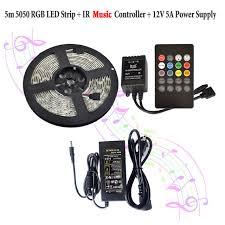 music led strip lights aliexpress com buy rgb music led strip lights waterproof flexible