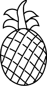 ripe pineapple fruit fruits coloring pages pinterest