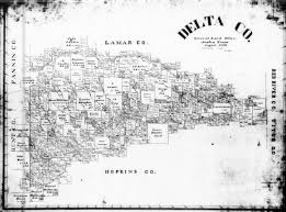 Tx County Map Delta County Maps