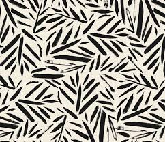not so black and white leaves fabric by crystal walen on