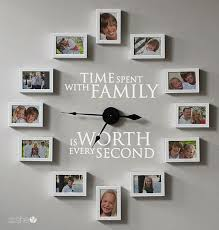 time spent with family clock decor diy picture clock family