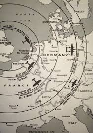 Map Of Europe During Ww2 by Map Of The Increasing Range Of Escort Fighters Accompanying Heavy