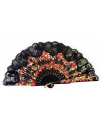 black lace fan lace fan