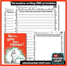 how the grinch stole persuasive writing response