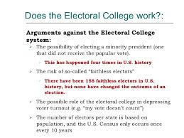 college work electoral college
