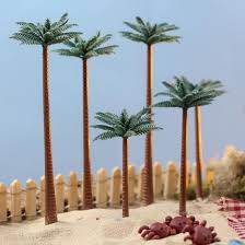 miniature artificial palm trees garden miniatures