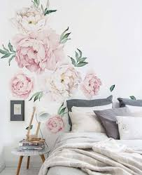 peony flowers wall sticker watercolor peony wall stickers peel vintage peony flowers wall sticker pink peony flowers wall sticker peony sticker for nursery