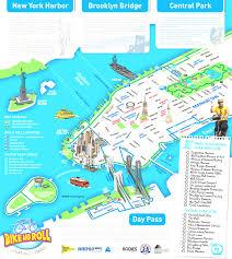 Map Of New York And Manhattan by Detailed Adorable Tourist Map Of New York City Evenakliyat Biz