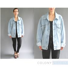 light wash denim jacket womens reserved 90s oversized light wash denim jacket medium large womens