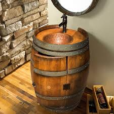 Wine Barrel Home Decor Reclaimed Wine Barrel Vanity Wine Enthusiast
